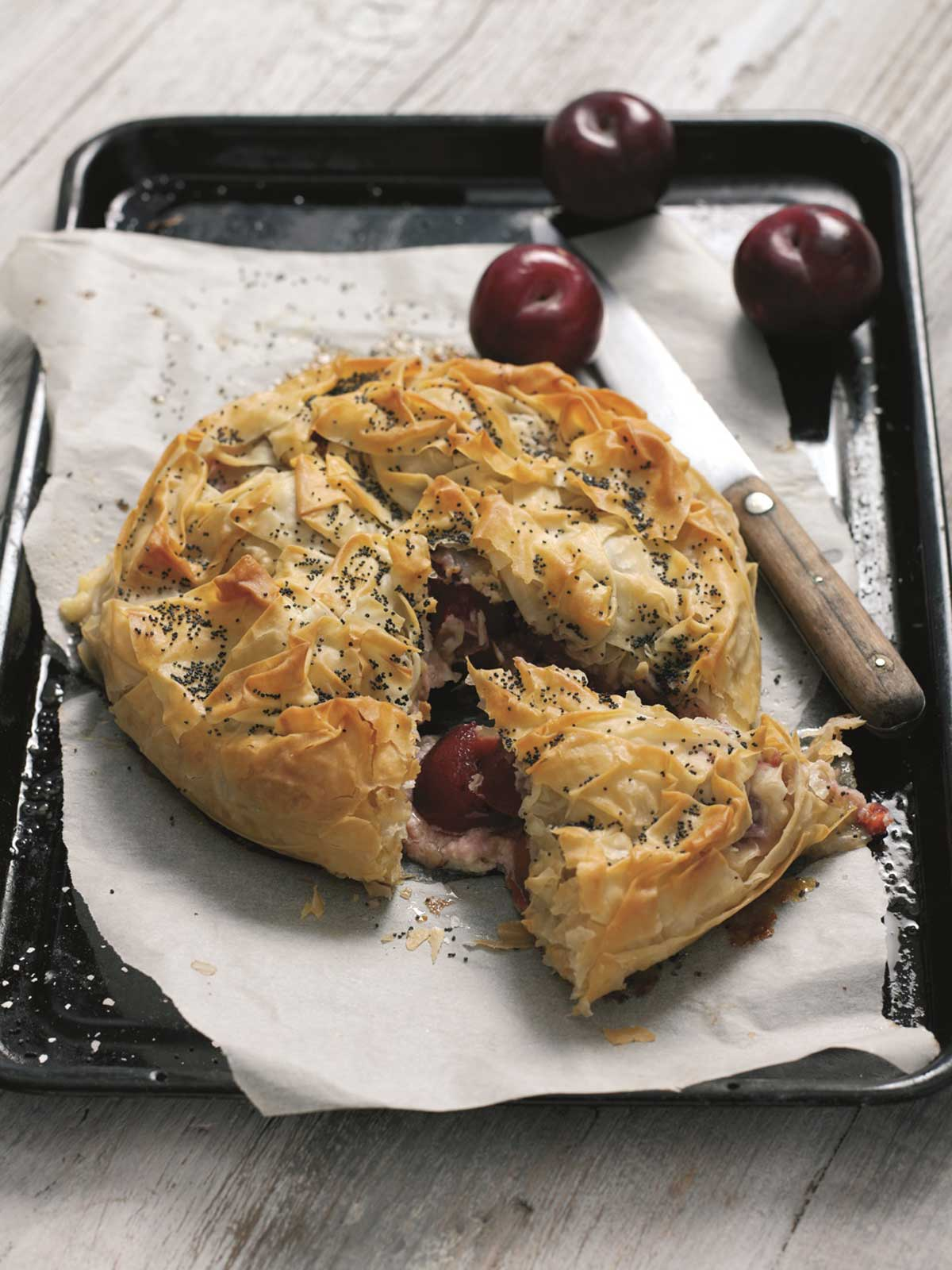 Plum-and-ricotta-filo-pie---with-plums25252
