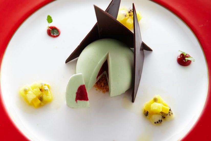 Watercress,-Sweet-Yoghurt-and-Coconut-Mousse-Dome
