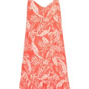 IMAGE-5---Leaf-Print-Pink-Coral-Lasies-Dress-