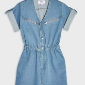IMAGE-1---Blue-Denim-Zip-Detail-Playsuit,-Miss-Selfridge