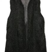 IMAGE 2 - Black Faux Fur Gilet